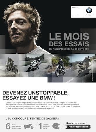 BMW Motorrad France: le mois des essais jusqu'au 15 octobre