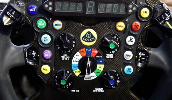 Insolite : le volant de la Lotus E21de Kimi Räikkönen