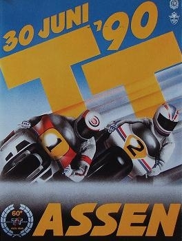 20 ans déja : GP Assen, Schwantz gagne la course en 500 et Lawson fait son retour
