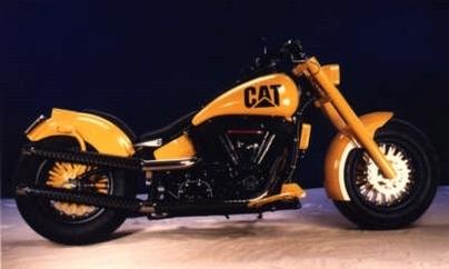 Ma moto est un Caterpillar