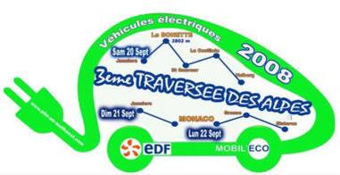 La 3e Traversée des Alpes en véhicules électriques aura lieu en septembre 2008