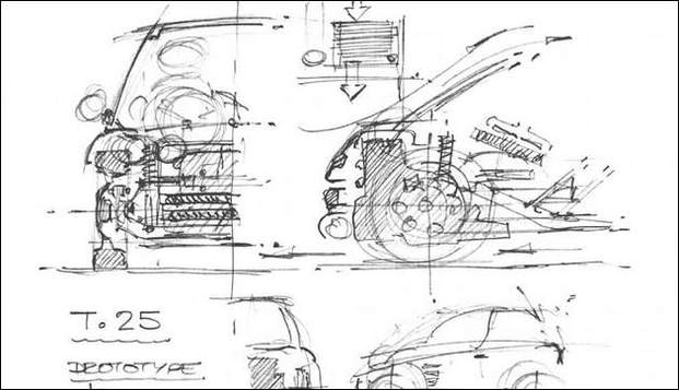 La T25 ? Une toute petite auto du designer Gordon Murray !
