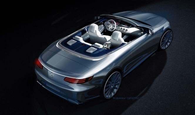 Salon de Francfort 2015 : Mercedes montre la Classe S Cabriolet en dessin