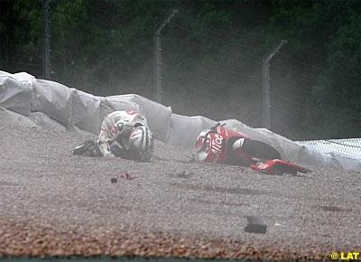 Moto GP - Allemagne: Sylvain, sixième sous la pluie sans contrôle de traction !