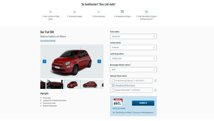 En Allemagne, Lidl vend aussi des voitures