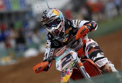 Motocross mondial :  Lettonie, MX 1, chez KTM, tout va bien