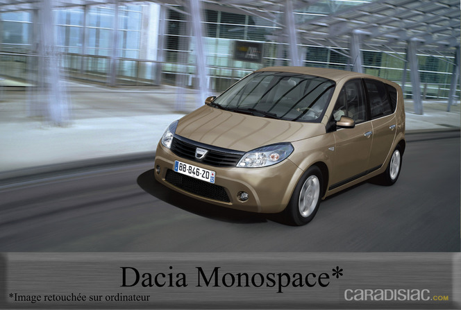 actualit nouveaut un monospace chez dacia en 2012. Black Bedroom Furniture Sets. Home Design Ideas
