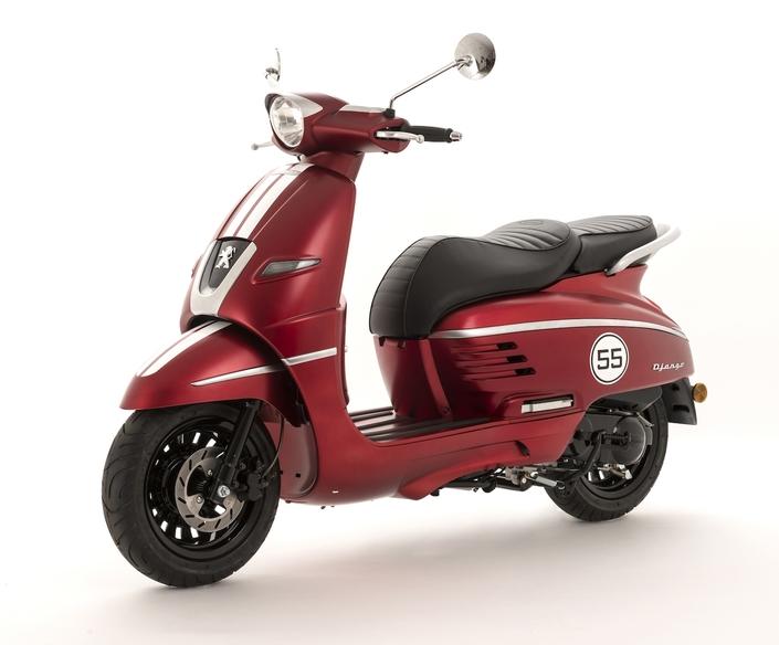 Peugeot Scooters : nouveau coloris Satin Cherry pour le Django 50