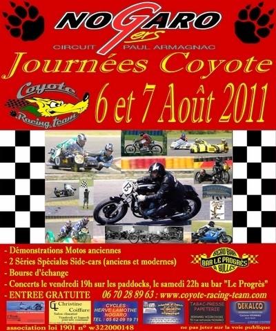 14ème rendez-vous des « journées Coyotes » : c'est ce week-end (6 et 7 aout 2011) sur le circuit de Nogaro.