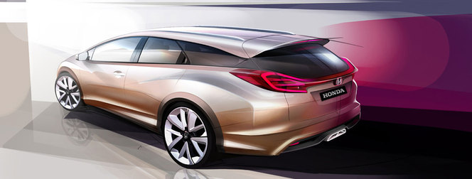 Genève 2013 : la Honda Civic Wagon s'annonce