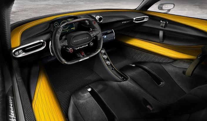 Hennessey Venom F5: voici l'intérieur de l'auto la plus rapide du monde