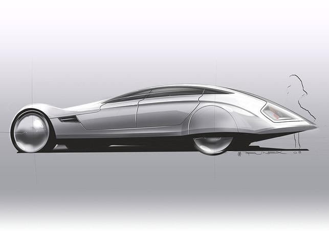 Le Tatra 903 Concept doté de piles à combustible