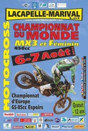 Motocross MX 3 et Féminin : La finale à Lacapelle-Marival ce week-end