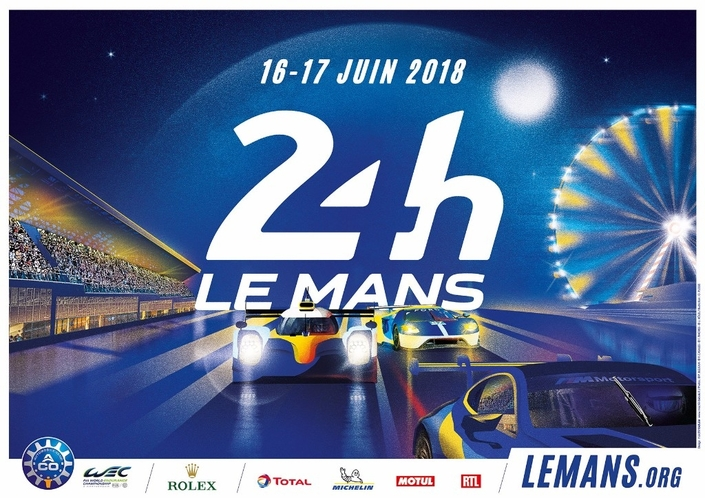 24 heures du mans 2018 l 39 affiche d voil e. Black Bedroom Furniture Sets. Home Design Ideas