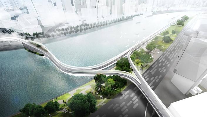 BMW imagine la route réservée aux deux roues électriques dans les villes