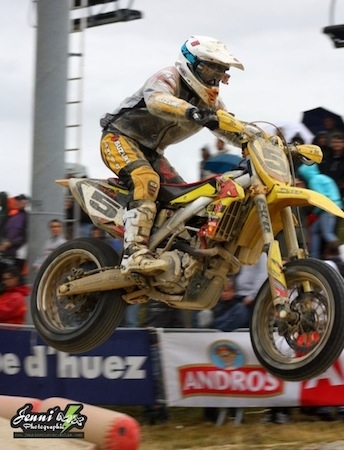 """Supermotard championnat de France 2011, Alpe d'Huez, interview de Boris Chambon: """"... cette année sera ma dernière saison..."""""""