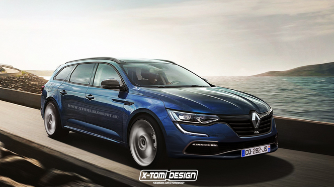 Design : un graphiste imagine un Renault Talisman Estate R.S.