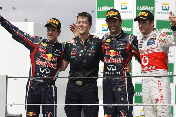 F1 Brésil : victoire d'équipe pour Mark Webber