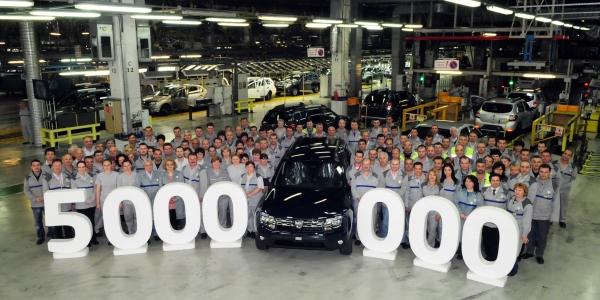 Dacia a passé le cap des 5 millions de voitures produites en Roumanie
