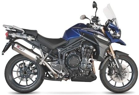Scorpion pique la nouvelle Triumph Explorer pour lui offrir des watts