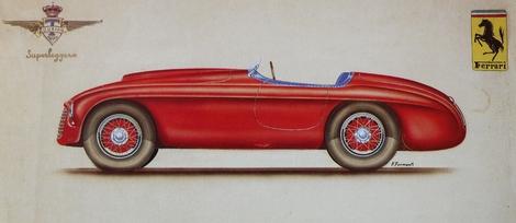 Ferrari 166 MM - Sketch.
