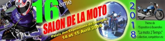 Limoges: Salon Moto 2018: le 2 tps à l'honneur les 14 et 15 avril.