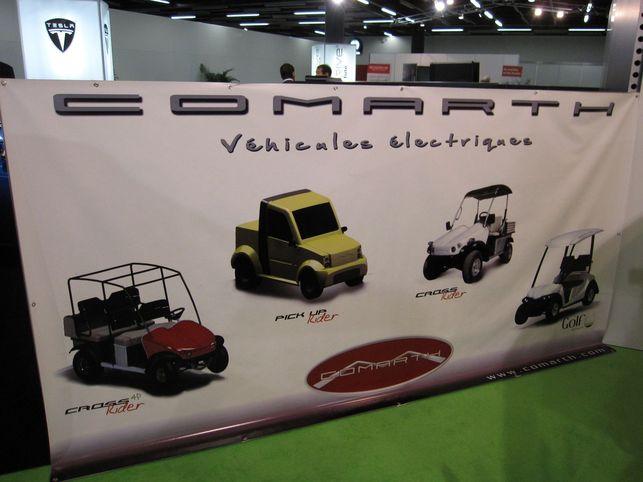 Stand COMARTH : une gamme de véhicules électriques sympas