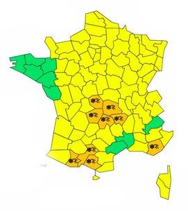 Neige: vigilance orange sur 9 départements, pensez à équiper votre auto