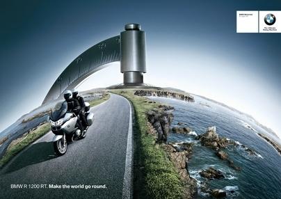 Pub du jour :  BMW Motorrad autour des villes et du monde entier ...
