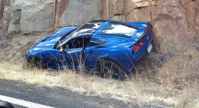 La nouvelle Corvette Stingray déjà au tas