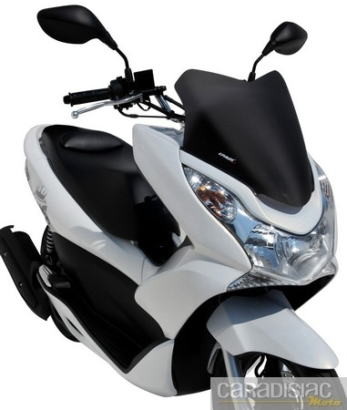 Honda 125 PCX : pare-brise signé Ermax.