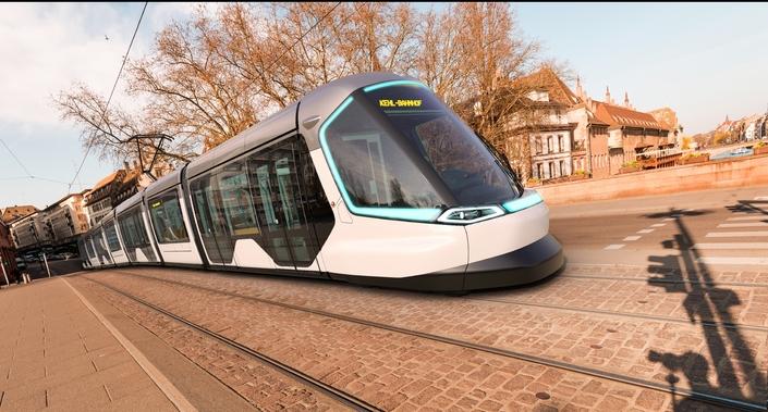 Le nouveau tram de Strasbourg dessiné par Peugeot