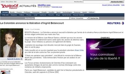Ingrid Betancourt libre mais à quel prix ... celui de Honda ! ! !
