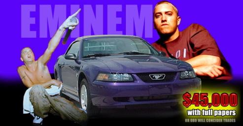 Eminem vend sa Ford Mustang Cabriolet sur e-bay !
