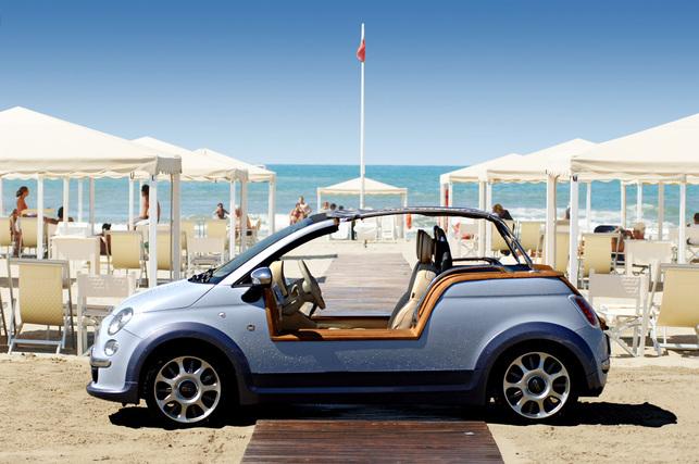 Une Fiat 500 électrique sans portières !
