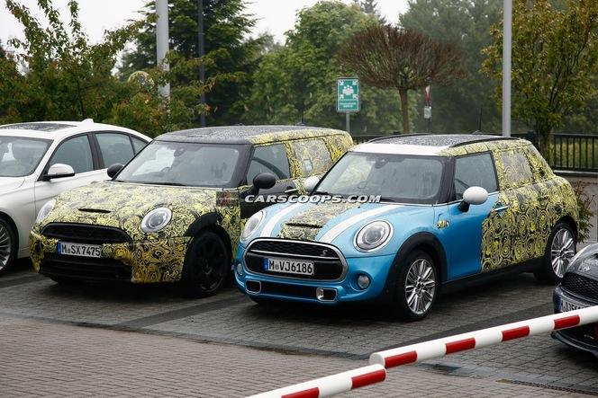 Surprise : les futures Mini 5 portes et Clubman côte à côte