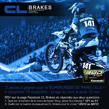 Jeu-concours: gagnez vos places au Supercross Paris-Lille avec CL Brakes