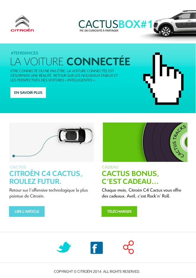 Citroën lance la Cactus box, un emailing affinitaire