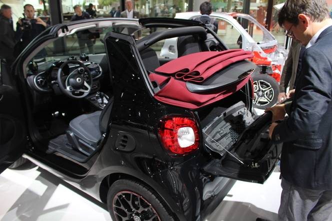 Smart ForTwo cabriolet : topless - Vidéo en direct du salon de Francfort 2015