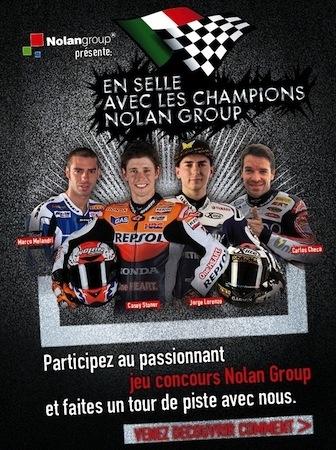 """Concours Nolan et X-lite """"En selle avec les Champions Nolan Group"""""""