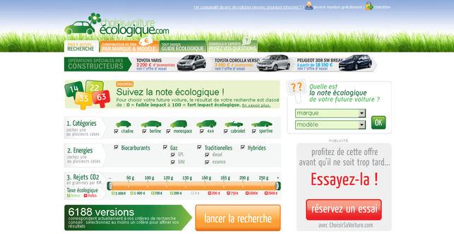 Choisirsavoiture.com : un site consacré à la recherche d'un véhicule neuf écologique