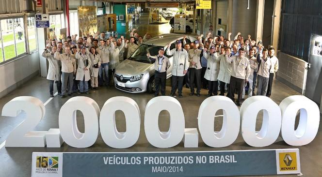 Renault passe la barre des 2 millions d'unités produites au Brésil