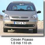 Citroën Picasso :   les Chevrons voient double