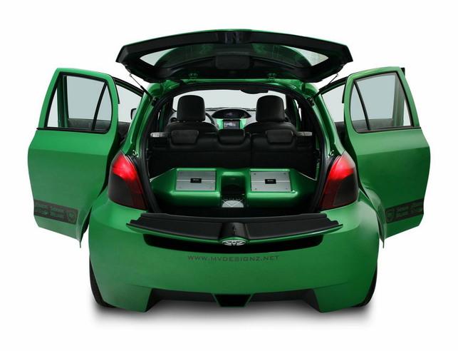 SEMA Show : une Toyota Yaris relookée au gaz naturel !