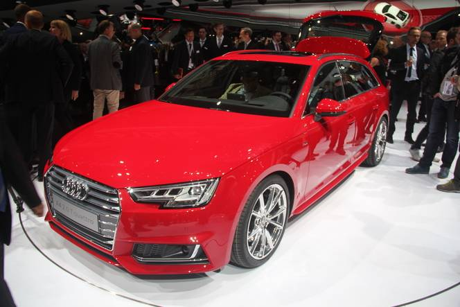 Audi A4 Avant : pratique - En direct du salon de Francfort 2015