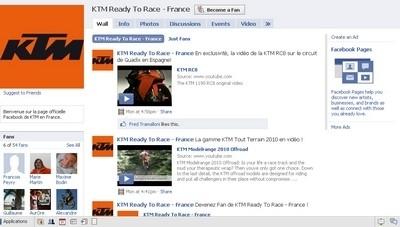 Facebook et KTM : tu veux devenir mon ami ?!???