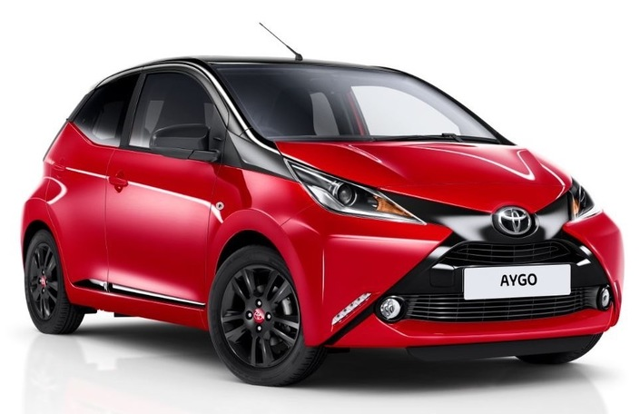 toyota aygo nouvelle finition x cite 4. Black Bedroom Furniture Sets. Home Design Ideas