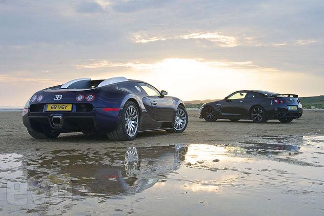 Nissan GT-R vs Bugatti Veyron : tous les chiffres