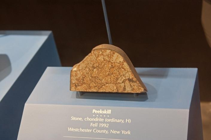 La Chevrolet frappée par une météorite au musée d'Histoire naturelle