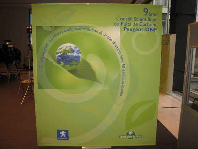 Conférence de presse Puits de Carbone Peugeot/ONF : le CO2 est piégé !